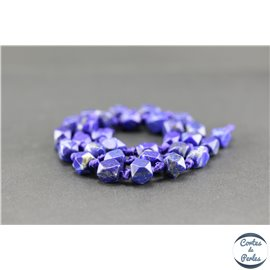 Perles semi précieuses en lapis lazuli d'Afghanistan - Pépite/8 mm
