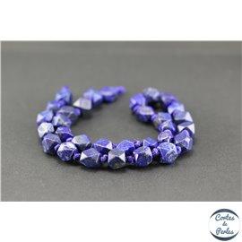 Perles semi précieuses en lapis lazuli d'Afghanistan - Pépite/10 mm