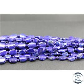 Perles semi précieuses en lapis lazuli d'Afghanistan - Disque/12 mm