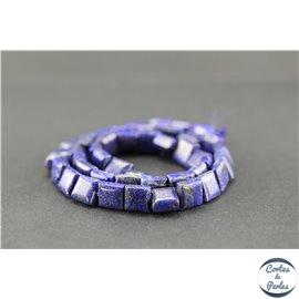 Perles semi précieuses en lapis lazuli d'Afghanistan - Carré/8,5 mm