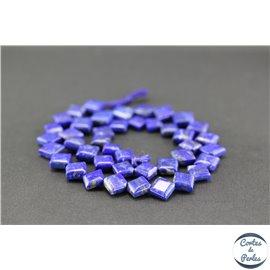 Perles en lapis lazuli d'Afghanistan - Carrés/8.5mm