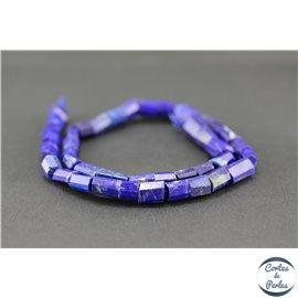 Perles semi précieuses en lapis lazuli d'Afghanistan - Tube/9 mm