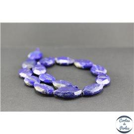 Perles semi précieuses en lapis lazuli d'Afghanistan - Nuggets/30 mm