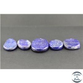 Lot de 5 pendentifs en lapis lazuli d'Afghanistan - Goutte/45 mm