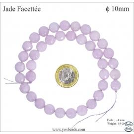 Perles semi précieuses en marbre - Rondes/10 mm - Glycine