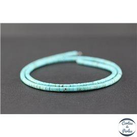 Perles en turquoise Kingman d'Arizona - Roues/3mm - Grade A