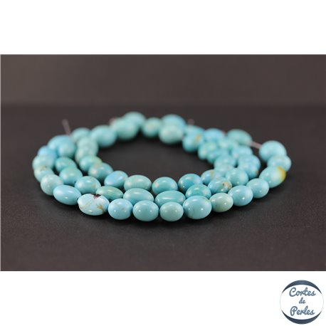 Perles semi précieuses en turquoise Kingman d'Arizona - Nuggets/10 mm