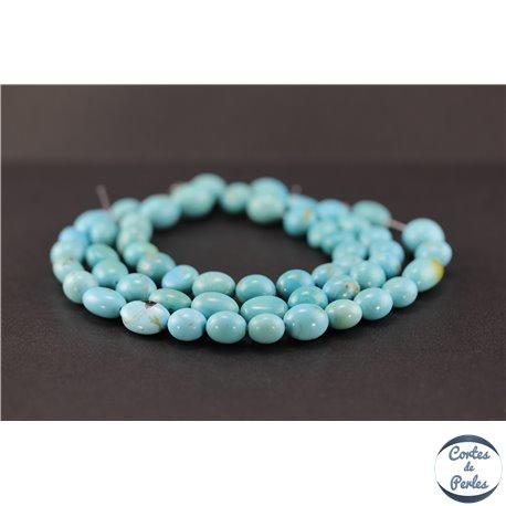 Perles en turquoise Kingman d'Arizona - Nuggets/10mm