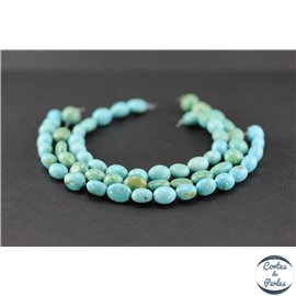 Perles en turquoise Kingman d'Arizona - Nuggets/8mm