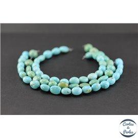 Perles semi précieuses en turquoise Kingman d'Arizona - Nuggets/9 mm