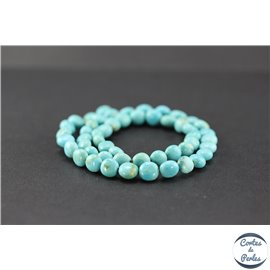 Perles semi précieuses en turquoise Kingman d'Arizona - Nuggets/7,5 mm