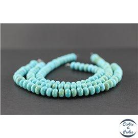 Perles semi précieuses en turquoise Kingman d'Arizona - Roue/8 mm