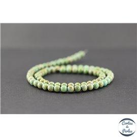 Perles en turquoise verte Kingman d'Arizona - Rondes/5mm