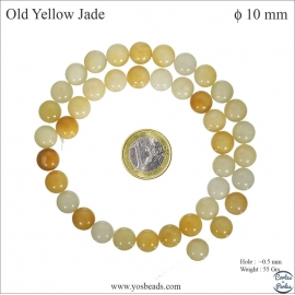 Perles en yellow jade - Rondes/10mm