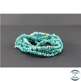Perles en turquoise Kingman d'Arizona - Chips/5mm
