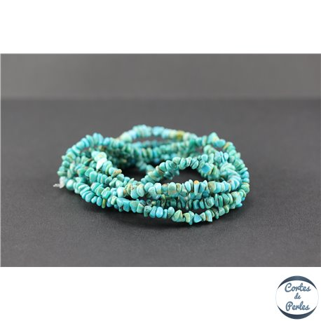 Perles semi précieuses en turquoise Kingman d'Arizona - Chips/5 mm