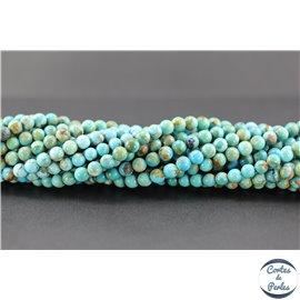 Perles en turquoise Kingman d'Arizona - Rondes/6mm- Grade A