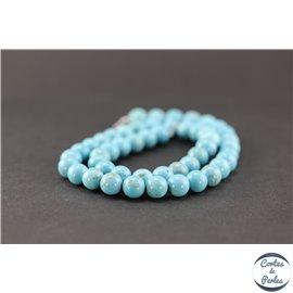 Perles en howlite turquoise - Rondes/8mm