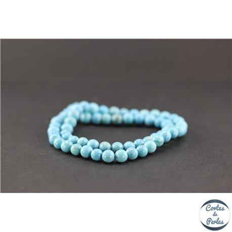 Perles semi précieuses en howlite turquoise - Rondes/6 mm