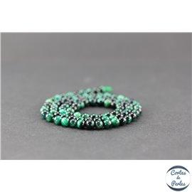Perles en oeil de tigre vert - Rondes/4mm