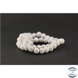 Perles semi précieuses en howlite dépolie - Ronde/8 mm