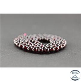 Perles semi précieuses en grenat US - Ronde/6 mm - Grade AA