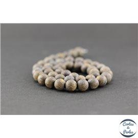 Perles semi précieuses en bronzite dépolie - Ronde/8 mm