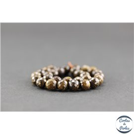 Perles semi précieuses en bronzite - Ronde/6 mm