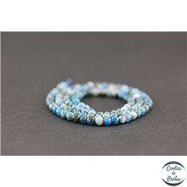 Perles semi précieuses en apatite - Ronde/4 mm - Grade AB