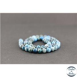 Perles en apatite - Rondes/6mm - Grade AB