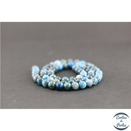 Perles semi précieuses en apatite - Ronde/6 mm - Grade AB