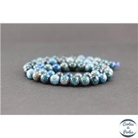 Perles semi précieuses en apatite - Ronde/8 mm - Grade AB