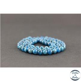 Perles semi précieuses en apatite - Ronde/6 mm - Grade A