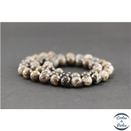 Perles en quartz marron - Rondes/8mm
