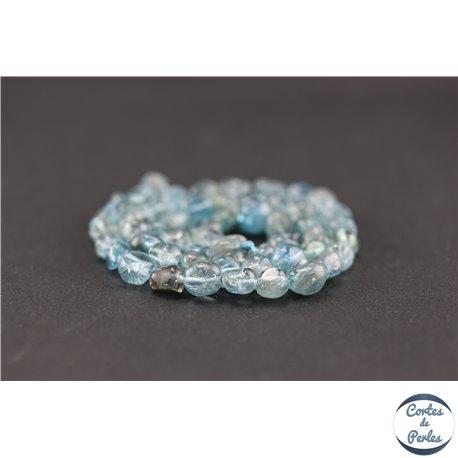 Perles semi précieuses en apatite - Nuggets/8 mm