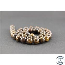 Perles semi précieuses en bronzite - Ronde/10 mm