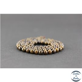 Perles semi précieuses en bronzite - Ronde/4 mm