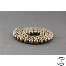 Perles en bronzite - Rondes/6mm