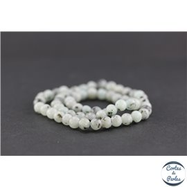 Perles semi précieuses en jaspe sésame - Ronde/6 mm