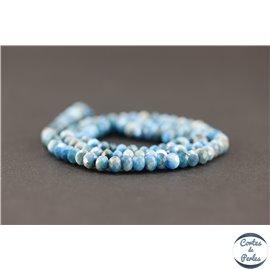 Perles facettées en apatite - Roues/6mm