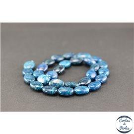 Perles semi précieuses en apatite - Ovale/14 mm