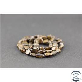 Perles semi précieuses en bronzite - Nuggets/10 mm