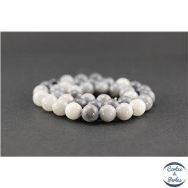 Perles en oeil d'aigle - Rondes/10mm - Grade AB