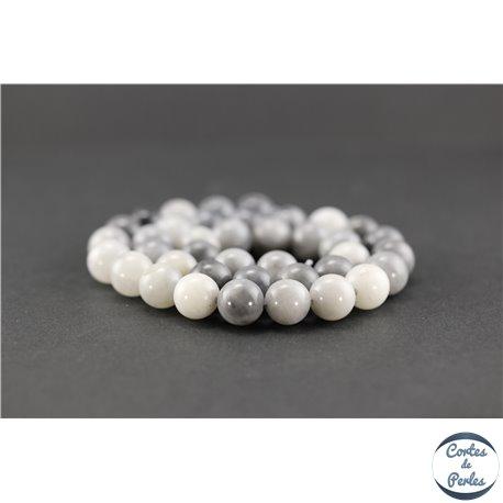 Perles semi précieuses en oeil de faucon - Ronde/10 mm