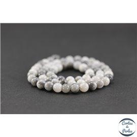 Perles en oeil d'aigle - Rondes/6mm - Grade AB