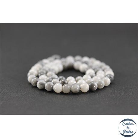 Perles semi précieuses en oeil de faucon - Ronde/6,5 mm