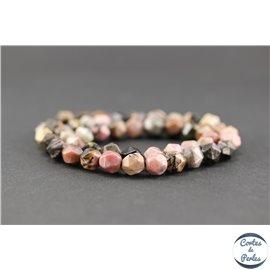 Perles semi précieuses en rhodonite - Pépite/8 mm
