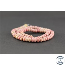 Perles semi précieuses en rhodonite - Roue/6 mm