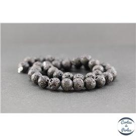 Perles en lave - Ronde/10 mm
