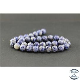 Perles semi précieuses en sodalite du Brésil - Ronde/10 mm
